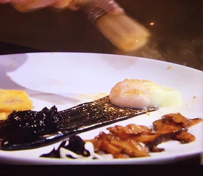 melbourne food depot gold glitter rocks on Masterchef Australia