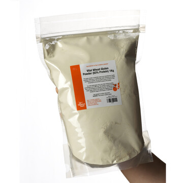 Vital Wheat Gluten Powder (Flour) 1kg Bag